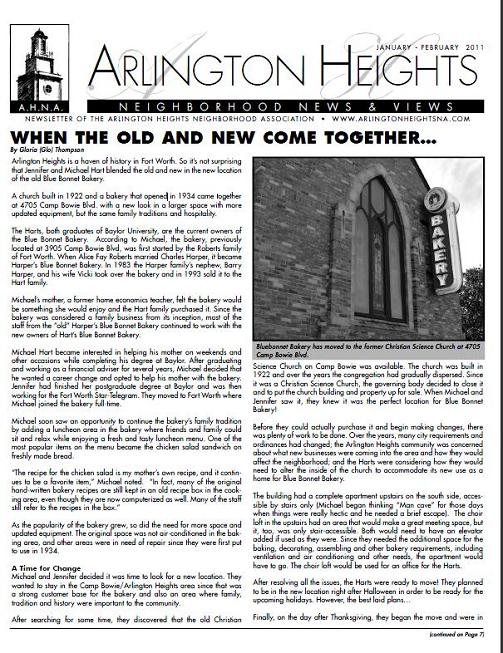 January/February 2011 Newsletter
