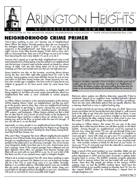 March/April 2011 Newsletter