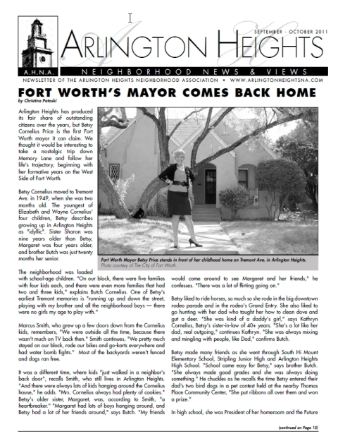September/October 2011 Newsletter